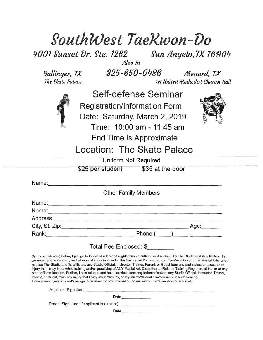 Self-Defense Seminar